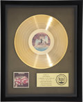 Music Memorabilia:Awards, Bad Company Straight Shooter RIAA Gold Record Award (SwanSong 8413, 1975)....