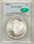 Morgan Dollars: , 1880-S $1 MS67 PCGS. CAC. PCGS Population (1768/163). NGC Census:(3092/255). Mintage: 8,900,000. Numismedia Wsl. Price for...