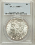 Morgan Dollars: , 1887/6 $1 MS64+ PCGS. PCGS Population (353/150). NGC Census:(225/89). Numismedia Wsl. Price for problem free NGC/PCGS coi...