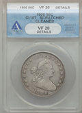 Early Half Dollars: , 1806 50C Pointed 6, Stem -- Cleaned, Scratched -- ANACS. VF20Details. O-107. NGC Census: (76/1570). PCGS Population (90/7...