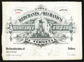 Miscellaneous:Other, Merchants and Mechanics Insurance Company of Virginia $13.50Receipt. ...