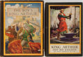 Books:Children's Books, [King Arthur]. Group of Two Illustrated Children's Books, OneIllustrated by N. C. Wyeth. Various publishers. Color plates. ...(Total: 2 Items)