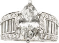 Estate Jewelry:Rings, Diamond, Platinum Ring, JB Star. ...