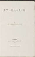 Books:Literature Pre-1900, Thomas Woolner. ALS TIPPED IN. Pygmalion. Macmillan, 1881. First edition, first printing. Autograph Letter Signed ...