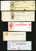 Miscellaneous:Other, Five Unused 1850-60s Checks from New York State.. ... (Total: 5items)