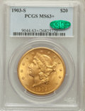 Liberty Double Eagles, 1903-S $20 MS63+ PCGS. CAC....