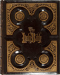 Books:Religion & Theology, Holy Bible. Philadelphia: A. J. Holman, 1885. Quarto. Publisher's decorated leather with light rubbing. Hinges cracked. ...