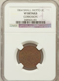 Two Cent Pieces, 1864 2C Small Motto -- Corrosion --NGC Details. VF. NGC Census:(10/301). PCGS Population (18/301). Mintage: 19,847,500...