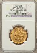 Indian Eagles, 1926 $10 -- Improperly Cleaned -- NGC Details. UNC. NGC Census:(545/34779). PCGS Population (712/28383). Mintage: 1,01...