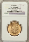 Indian Eagles, 1914-S $10 -- Improperly Cleaned -- NGC Details. AU. NGC Census:(20/898). PCGS Population (27/737). Mintage: 208,000. ...