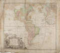 Books:Maps & Atlases, [Map of the Americas]. Americae Mappa Generalis. 1746.Engraved with hand-coloring. Approx. 21 x 24 inches. Staining...