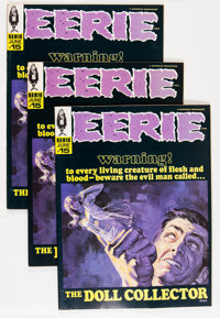 Eerie #15 Group (Warren, 1968) Condition: Average VF/NM.... (Total: 3 Comic Books)