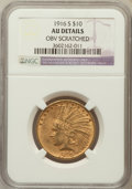 Indian Eagles, 1916-S $10 -- Obverse Scratched -- NGC Details. AU. NGC Census:(6/779). PCGS Population (20/824). Mintage: 138,500...