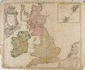 Books:Maps & Atlases, [Map of the Great Britain]. Magna Britannia complectens Angliae, Scotiae et Hyberniae. Ca. 1729. Engraved with hand-coloring...