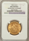 Liberty Eagles, 1902-S $10 -- Improperly Cleaned -- NGC Details. UNC. NGC Census:(30/2740). PCGS Population (71/2264). Mintage: 469,50...
