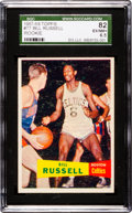 Basketball Cards:Singles (Pre-1970), 1957 Topps Bill Russell #77 SGC 82 EX/NM+ 6.5. ...