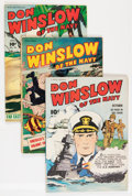 Golden Age (1938-1955):War, Don Winslow of the Navy #8, 36, and 56 Group (Fawcett Publications,1943-48) Condition: Average VG.... (Total: 3 Comic Books)
