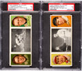 Baseball Cards:Lots, 1912 T202 Hassan Triple Folders PSA Pair (2) - Both Dual HoFers....
