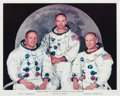 "Autographs:Celebrities, Apollo 11 Crew-Signed Vintage NASA Color Photo Directly from the Personal Collection of Astronaut ""Den Mother"" Lola Morrow. ..."