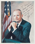 "Autographs:Celebrities, Neil Armstrong Signed Vintage NASA Color Photo Directly from thePersonal Collection of Astronaut ""Den Mother"" Lola Morrow...."