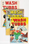 Golden Age (1938-1955):Miscellaneous, Four Color Wash Tubbs Group (Dell, 1942-44) Condition: Average GD.... (Total: 3 Comic Books)