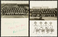 Football Collectibles:Others, 1958 and 1959 Green Bay Packers Team Issued Christmas Cards, Each Signed by Legendary Equipment Manager Dad Braisher....