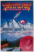 "Music Memorabilia:Posters, Grateful Dead ""Summit Conference II"" Boreal Ridge Concert Poster(Music Futures, 1986)...."