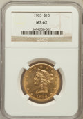 Liberty Eagles: , 1903 $10 MS62 NGC. NGC Census: (392/189). PCGS Population(265/183). Mintage: 125,800. Numismedia Wsl. Price for problemfr...