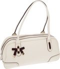 Luxury Accessories:Bags, Gucci White Leather Princy Satchel Bag. ...