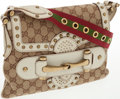Luxury Accessories:Bags, Gucci Classic Canvas Studded Pelham Runway Flap Bag. ...