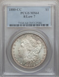 Morgan Dollars: , 1880-CC $1 8 Over Low 7 MS64 PCGS. PCGS Population (250/204). NGCCensus: (0/0). ...