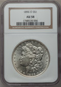 Morgan Dollars: , 1896-O $1 AU58 NGC. NGC Census: (1375/1250). PCGS Population(953/1299). Mintage: 4,900,000. Numismedia Wsl. Price for prob...