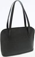 Luxury Accessories:Bags, Louis Vuitton Black Epi Leather Lussac Tote Bag. ...