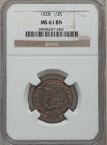 Half Cents: , 1828 1/2 C 13 Stars MS61 Brown NGC. NGC Census: (35/349). PCGSPopulation (6/226). Mintage: 606,000. Numismedia Wsl. Price ...