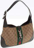 Luxury Accessories:Bags, Gucci Classic Monogram Canvas and Web Stripe Jackie Shoulder Bag....