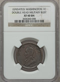 Colonials: , Undated 1C Washington Double Head Cent XF40 NGC. NGC Census:(5/49). PCGS Population (31/150). ...
