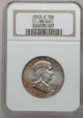 Franklin Half Dollars: , 1963-D 50C MS66 NGC. NGC Census: (70/0). PCGS Population (22/0).Mintage: 67,069,292. Numismedia Wsl. Price for problem fre...