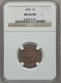 Indian Cents: , 1878 1C MS62 Brown NGC. NGC Census: (26/118). PCGS Population(17/71). Mintage: 5,799,850. Numismedia Wsl. Price for proble...