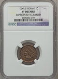 Indian Cents: , 1909-S 1C -- Improperly Cleaned -- NGC Details. VF. NGC Census:(146/1285). PCGS Population (288/2061). Mintage: 309,000. N...