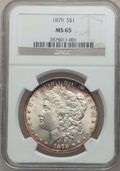 Morgan Dollars: , 1879 $1 MS65 NGC. NGC Census: (667/102). PCGS Population (927/110).Mintage: 14,807,100. Numismedia Wsl. Price for problem ...