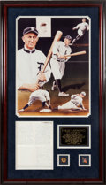 Autographs:Letters, Late 1950's Ty Cobb Handwritten Signed Letter Display....