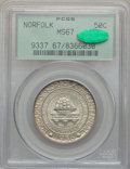 Commemorative Silver: , 1936 50C Norfolk MS67 PCGS. CAC. PCGS Population (971/161). NGCCensus: (643/77). Mintage: 16,936. Numismedia Wsl. Price fo...