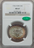 Commemorative Silver: , 1936 50C York MS67 NGC. CAC. NGC Census: (360/25). PCGS Population(518/24). Mintage: 25,015. Numismedia Wsl. Price for pro...