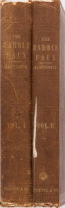 Books:Literature Pre-1900, Nathaniel Hawthorne. The Marble Faun. Vol. I & II.Ticknor and Fields, 1860. An early impression with ads dated ...(Total: 2 Items)
