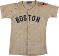 Baseball Collectibles:Uniforms, 1942 Dom DiMaggio Game Worn Boston Red Sox Jersey....