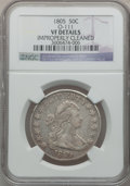 Early Half Dollars: , 1805 50C -- Improperly Cleaned -- NGC Details. VF. O-111. NGCCensus: (15/908). PCGS Population (43/299). Mintage: 211,722...