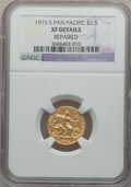 Commemorative Gold: , 1915-S $2 1/2 Panama-Pacific Quarter Eagle -- Repaired -- NGCDetails. XF. NGC Census: (0/1999). PCGS Population (4/2294). ...