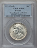 Commemorative Silver: , 1935/34-D 50C Boone MS65 PCGS. PCGS Population (241/234). NGCCensus: (157/177). Mintage: 2,003. Numismedia Wsl. Price for ...