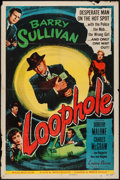 """Movie Posters:Film Noir, Loophole (Allied Artists, 1954). One Sheet (27"""" X 41"""") and Lobby Card Set of 8 (11"""" X 14""""). Film Noir.. ... (Total: 9 Items)"""