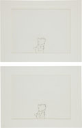 Animation Art:Production Drawing, Winnie-the-Pooh Production Drawing Animation Art (Disney,undated).... (Total: 2 Original Art)